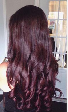 Red brown violet hair