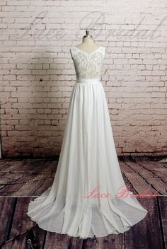 Backless mariage robe, robe de mariée Sexy, dentelle mousseline de soie de mariage robe de mariée avec ceinture