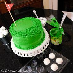 Shower of Roses: Golf Birthday Cake