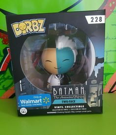 Funko Pop Dorbz Batman Two Face 228 Walmart Exclusive Vinyl Figure Collectible