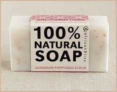 Geranium Poppyseed - African Bliss Soap, R35.00 Recycled Jars, Shops, Journal Notebook, Geraniums, Soy Candles, Bliss, Essential Oils, African, My Love