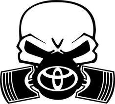 Toyota Skull With Pistons Vinyl Decal Sticker - Bumper - Mug - Tumbler - Car Decals, Bumper Stickers, Vinyl Decals, Toyota Symbol, Jesus Photo, Star Stencil, Yeti Cup, Black Wallpaper, 6 Years