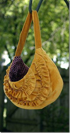 cute ruffled handbag tutorial
