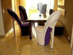 High Heel Chairs Dining Room
