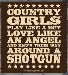 "Country Girl ® Shotgun 5"" x 5"" Sticker"