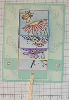 Splitcoaststampers - Waterfall Card Project Tutorial by Kathy Logan