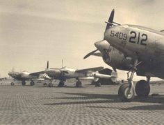 Public Domain images AVIATION   Several aircraft from world war two on the runway public domain image ...