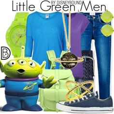 Little Green Man Clothing Set