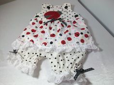 Newborn Baby Girl Gift  Ladybug Outfit  Sun Top by PeaPodLilFrogs, $28.00