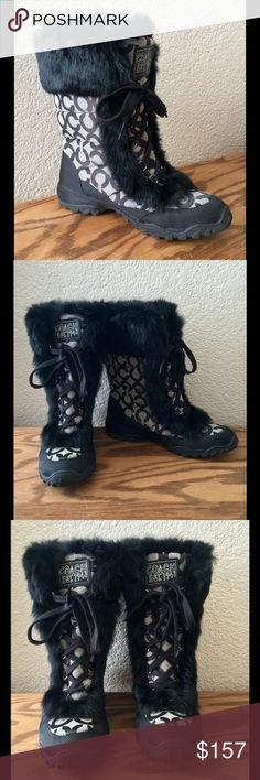 Coach Boots Coach (JENNIE) Signature BootsWomen's Size 7 mediumGently worn only! Preloved! Coach Shoes