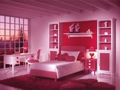 Beautiful Pink Bedroom Idea. this is a pretty color for bedroom design idea. you can make this simple if you a pinker http://www.interiordesign614.com/pretty-pink-bedroom-idea