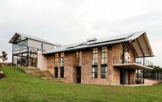 The Zwavelpoort Conservatory South Africa Nadine Engelbrecht architecture home design glass wine cellar bedroom plan blueprint pretoria Brick Siding, Metal Siding, Metal Roof, Pretoria, Green Building, Building A House, Conservatory House, Tiny House, Glass Facades