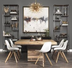 Lofty Ideal - Made of reclaimed and repurposed pine, the Tahoe Square Dining Table combines rustic charm with modern design.
