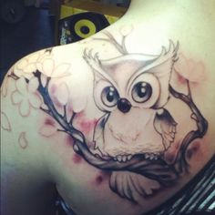 Outlines w no color #cherryblossom-owl