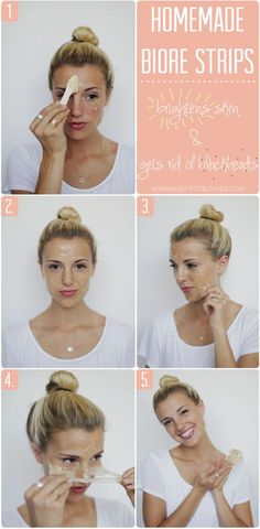 This is a recipe on how to make your own Biore strips that you can use just on your nose, like you would a Biore strip