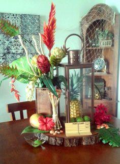 Hawaiian Inspired Centerpiece