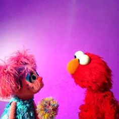 Elmo wants it to snow for Christmas. Abby obliges... kind of.