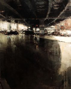 """The Underpass"", Oil on Panel, 59 x 47 inches, 2011. By Jeremy Mann."