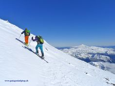 Skitour up to Volcano Lanin in Chile Ski Touring, World Class, Volcano, Alps, Chile, Skiing, Tours, Adventure, Outdoor