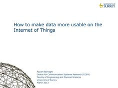 Making IoT data more usable