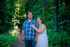Krista and Chris - Ottawa Wedding Magazine  Engagement Photos #forest #Arnprior #Ottawa #photography #MondaysWithMacPhotography