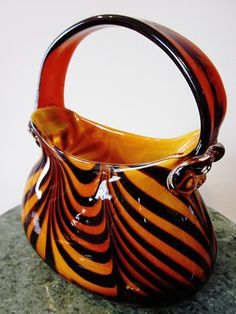 Art Deco Handblown Glass Purse by ChasingTimeVintage on Etsy, $39.99