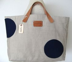 French Linen Riviera Beach Bag. XL Shopping Tote by Ecolution, $125.00