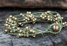 wax cord and seed beads