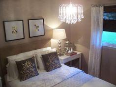 Glass Drop Chandelier - Contemporary - bedroom - Glidden Mesa Tumbleweed - Nuestra Vida Dulce