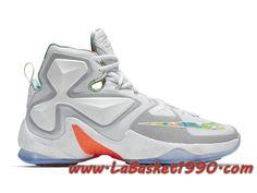 best service e0fe8 8cf17 Nike LeBron 13 EP Easter 807220-108 Chaussures Nike Officiel Pas Cher Pour Homme  Blanc