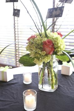 mason jar with flowers photo by ali marie photography