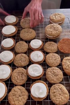 Chewy oatmeal cookies filled with marshmallow fluff.