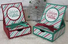 Crafty Christmas Countdown #23 Presents and Pinecones Easel Card with Drawer