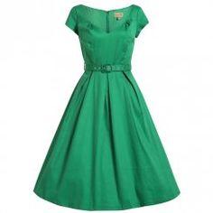 'Liberty' Emerald Green Swing Dress