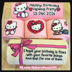 Hello Kitty birthday roll cake #Bakeryhouse101 Bangkok
