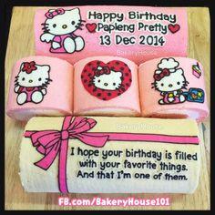 Hello Kitty birthday roll cake #Bakeryhouse101 Bangkok
