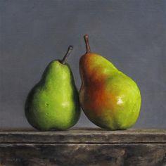 """""""Leaning Pair"""" - Original Fine Art for Sale - © Michael Naples"""