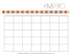 Calendario Mayo Personalizable - © Ana Cabreira