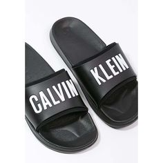 Calvin Klein Swimwear SLIDE ❤ liked on Polyvore featuring shoes, sandals, black sandals, calvin klein, calvin klein shoes, calvin klein sandals and kohl shoes