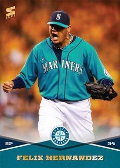 Felix Hernández Seattle Mariners, Baseball Cards, Athletes, Sports, Play, Hs Sports, Sport