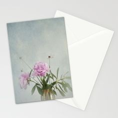 Buy Peonies Stationery Card by aRTsKRATCHES. Worldwide shipping available at Society6.com. Just one of millions of high quality products available.