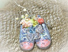 Song Li: Mixed Media Altered Baby Shoes For Shimmerz