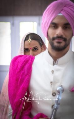 Wedding Photography idea from Neha Dhupia's Gurudwara wedding // Read about- 3 Bridal looks we loved on her! . . . #indianwedding #weddingphotography #photographyideas #indiancouple