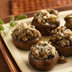 Stuffed Mushrooms ----  *Coach approved for ALL phases.  (Be mindful of veggie servings.)