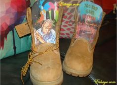 Customize Boots - Mani the Rapper from the Rap Game Timberland Boots - Eshays, LLC   Eshays, LLC