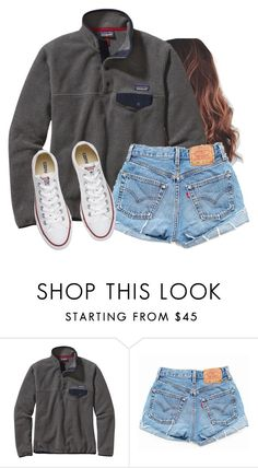 """I'm tired of the heat"" by aweaver-2 on Polyvore featuring Patagonia, Levi's and Converse"