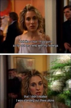 """Oh Carrie Bradshaw - it's been far too long. 26 Relationship Truths, As Told By """"Sex And The City"""" City Quotes, Movie Quotes, Quote Meme, Funny Quotes, Romance Quotes, Quotes Quotes, Carrie Bradshaw Quotes, Carrie And Big, Le Divorce"""