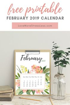 Perfect for your planner, bullet journal or to stick to the fridge! Printable Day Planner, Printable Labels, Free Printables, Calendar Printable, February Calendar, Calendar Girls, 2019 Calendar, Day Planners, Teacher Gifts