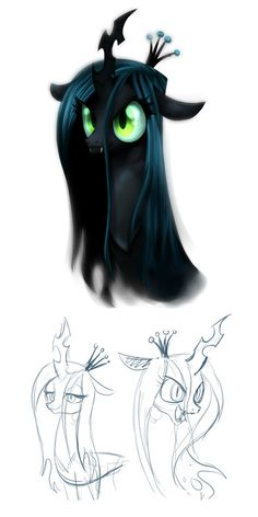 queen chrysalis by albadune on DeviantArt My Little Pony Cartoon, My Little Pony Characters, My Little Pony Drawing, My Little Pony Pictures, Mlp My Little Pony, My Little Pony Friendship, Fluffy Puff, Queen Chrysalis, Funny Parrots