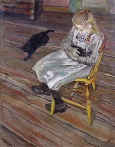 Christian Krohg 1852-1925: The Girl with the Cats 